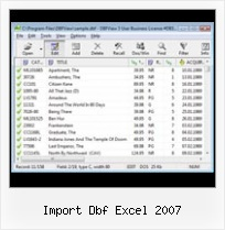 Excel 2007 Extraction Dbf import dbf excel 2007